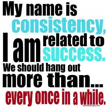 Consistently inconsistent!